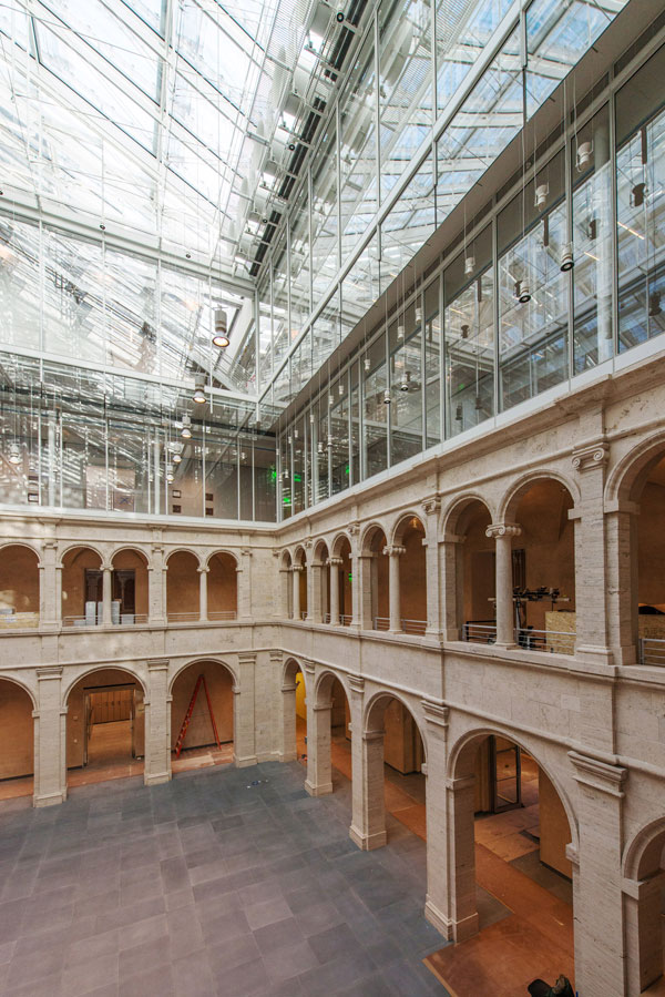 Renzo piano 39 s surprise material for harvard art museums for Architecture harvard