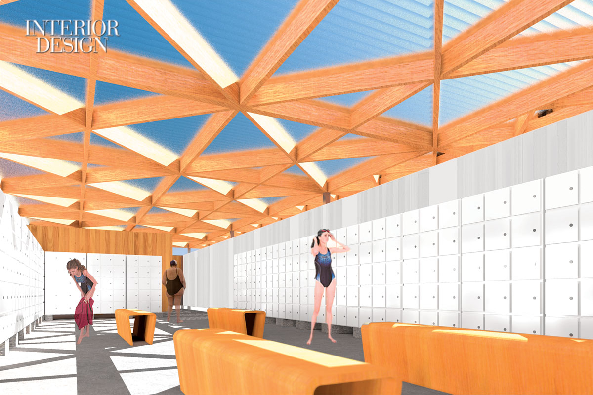 A Rendering By Graduate Architecture Students At The New Schools Parsons School Of Design Shows