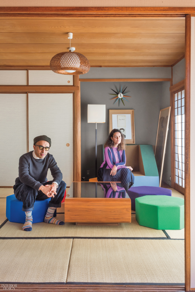 The Couple In Their Living Area, With Tatami Mat Flooring. Photography By  Mark C. Ou0027Flaherty/Living Inside.