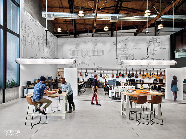 Fender rocks out at new los angeles headquarters by rapt - Interior design companies los angeles ...