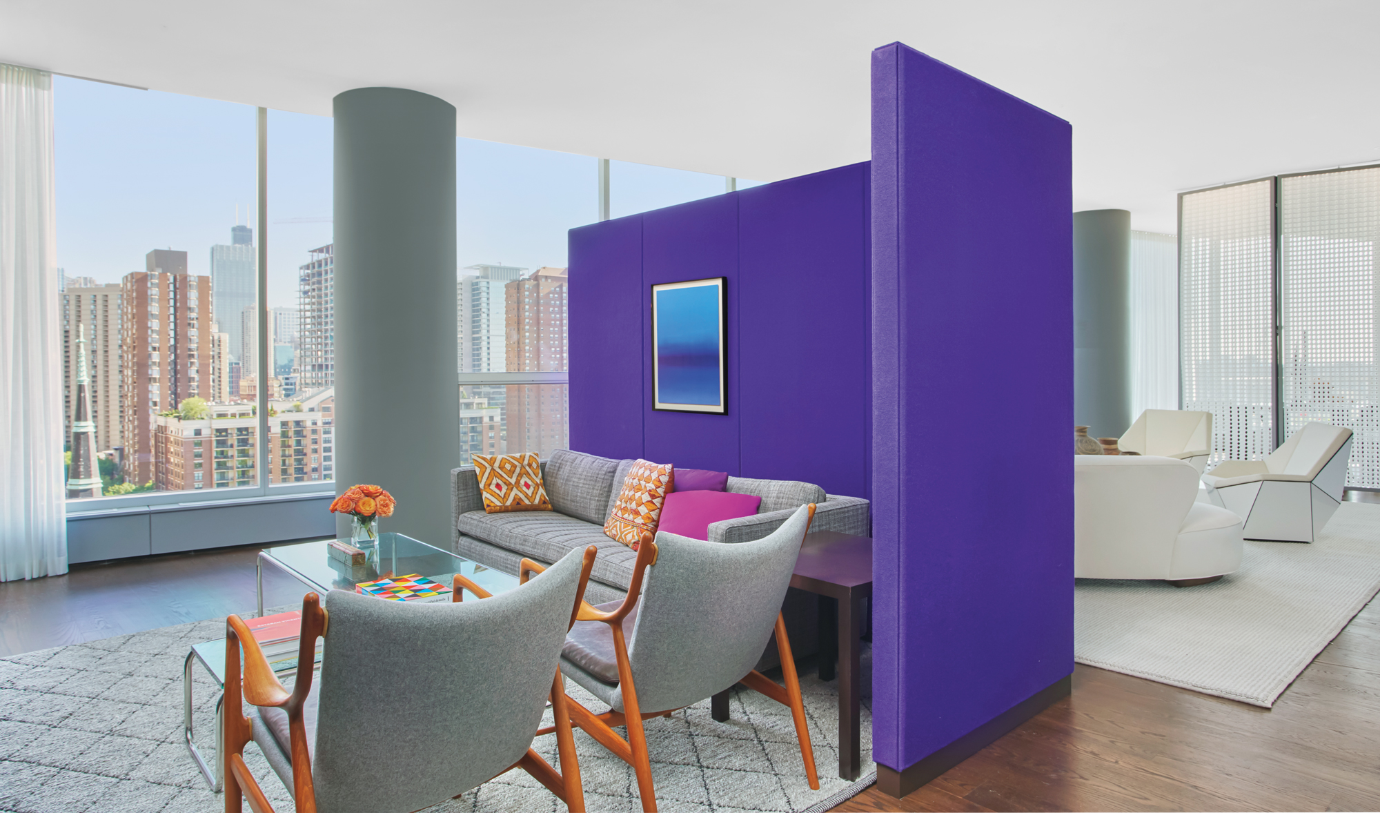R D K Home Design Ltd Part - 30: Fabric-covered Partitions Section The Open Plan. Photography By Mike  Schwartz. Interior Design ...