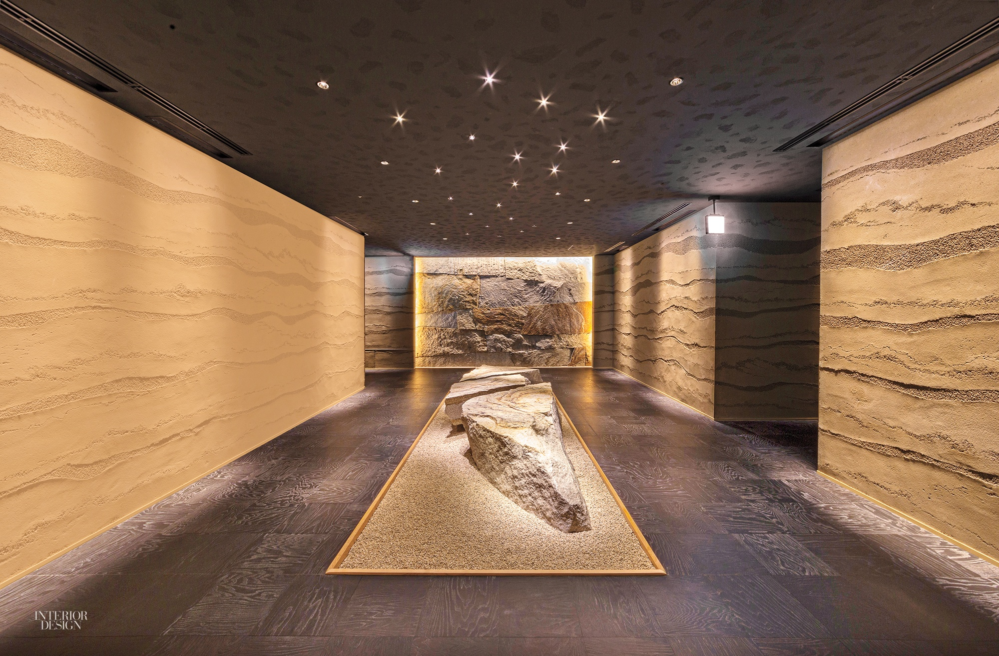 traditional plaster mixed with compressed earth covers sidewalls in the restaurants vestibule photography by jimmy cohrssen - Traditional Hotel Interior