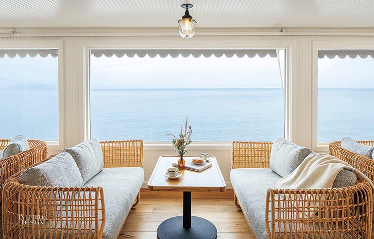 At The Sound View Greenport, A Hotel In Long Island, New York, By Studio  Tack, Cane Sofas By Foersom U0026 Hiort Lorenzen Furnish The Lobby Lounge.