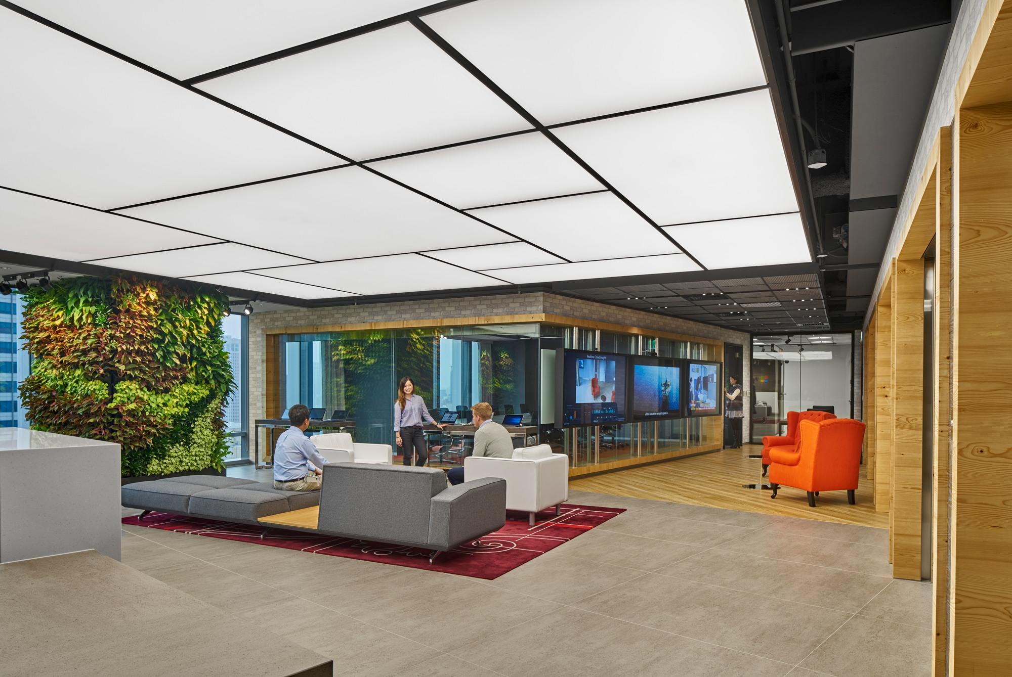 Microsoft Taipei by Space Matrix Design Consultants. Photography by Owen  Raggett.