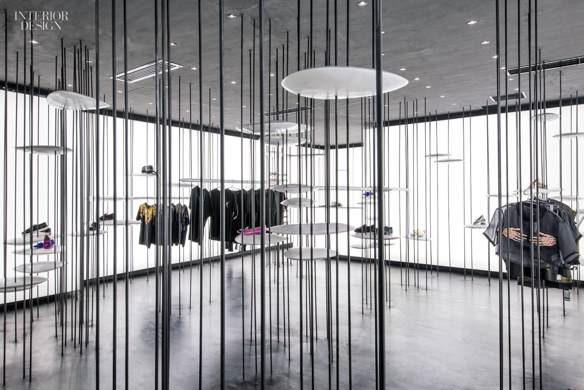Materials Underscore The Merchandise At These  New Retail Stores - Interior design materials