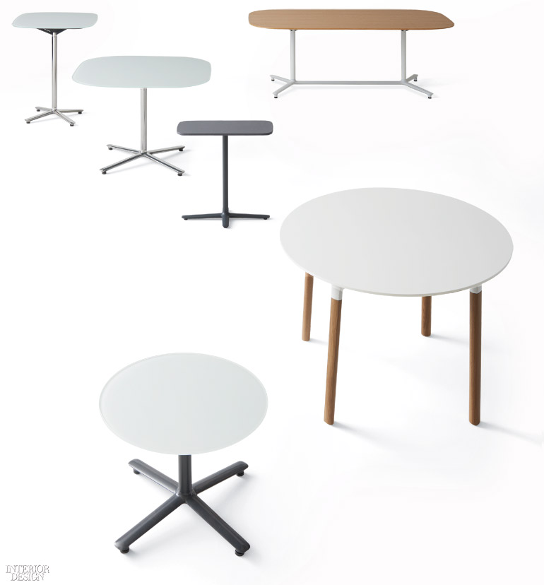 Mario Ruizu0027s Bevy Table With Laminate, Leather, Or Glass Tops And Frame  Wire Management Understructure By Studio TK ...