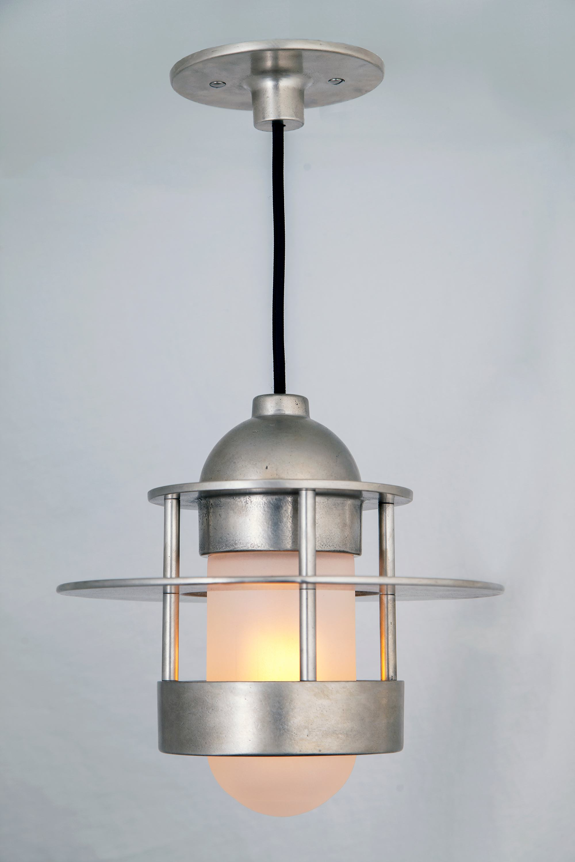 5 hand crafted lighting fixtures by sun valley bronze shown in a new polished silicon bronze sp finish the hudson pendant is available in either clear or frosted glass with multiple color cord options arubaitofo Gallery