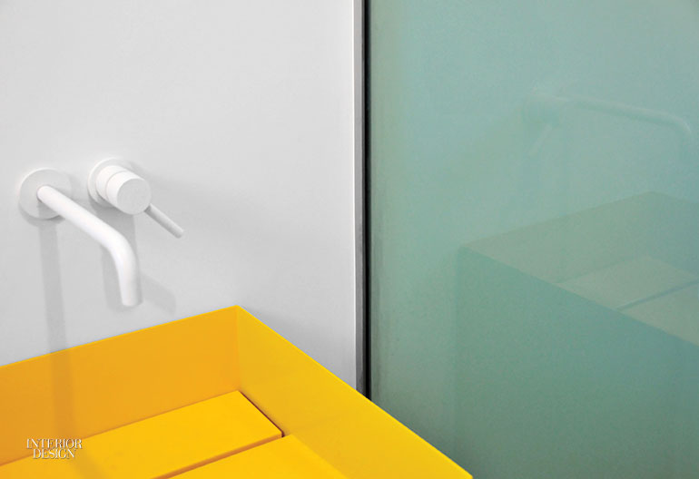 The Guest Bathroomu0027s Sink Is Painted Aluminum. Photography By Cinzia  Mondello.