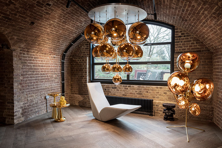A Mirror Ball System Hangs Above Bird Chaise Photography By Peer Lindgreen