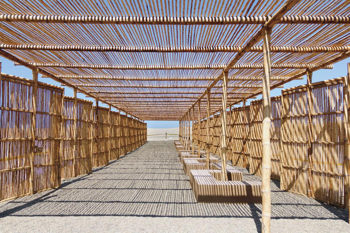 utopus updates peru visitor center with stunning bamboo latticework