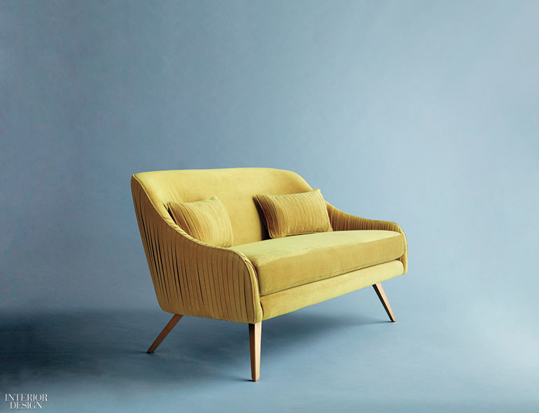 8 modern takes on tufted furniture for West elm yellow chair