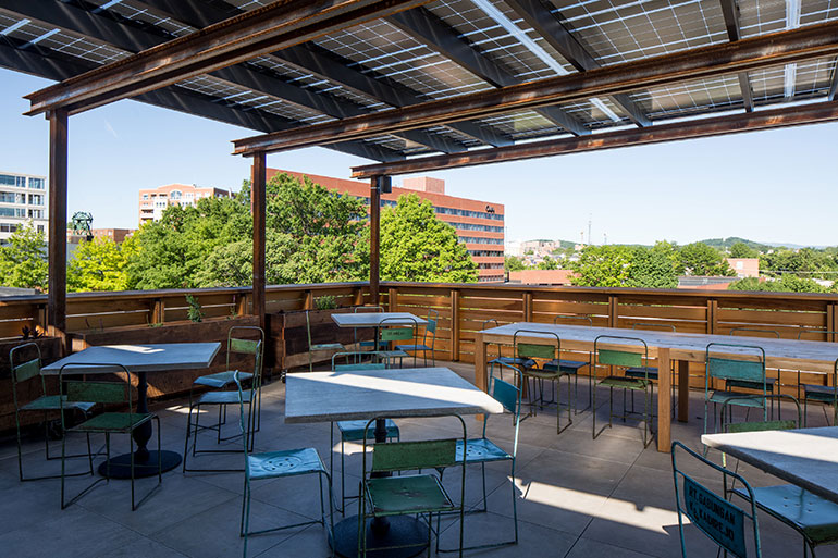 Rooftop Terrace. Photography By Andrea Hubbell.