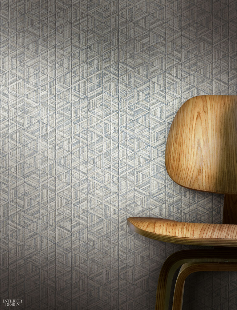 Stacy Garcia Contract's Inlay Type II vinyl wall covering with nonwoven backing by York Wallcoverings ...